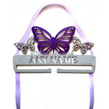 Personalised Butterfly Hanging Name Bow Holder