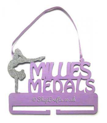 Personalised Name Gymnast Hanging Medal Holder