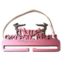 Personalised Gymnastics Medal Name Holder