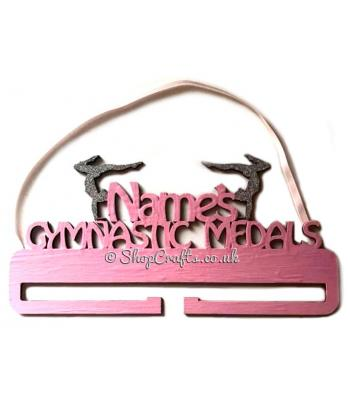 Personalised Gymnastics Medal Name Holder