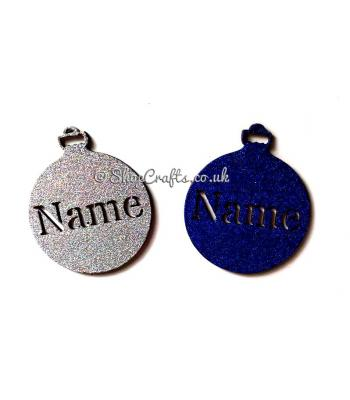 Personalised Christmas Name Bauble 100mm Size
