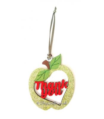 Thank You Pocket Sized Teacher Apple Hanging Bauble