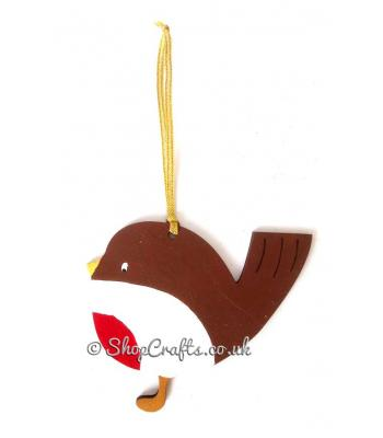 Robin Red Breast Christmas Tree Bauble