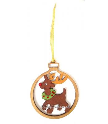 Rudolph Red Nose Reindeer Christmas Tree Bauble