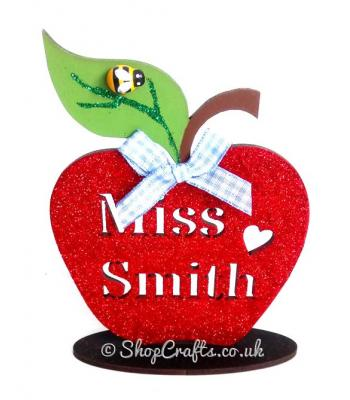 Personalised Teacher's Apple On Stand