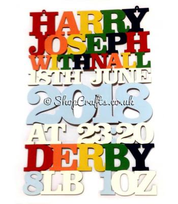 Personalised Large Birth Details Sign