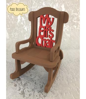 Xmas 'Elf on the shelf' - rocking chair prop 'My Elfs chair'