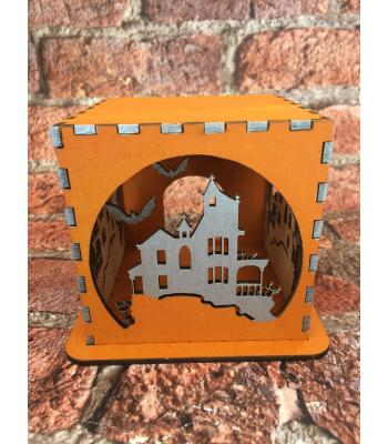 Halloween Tea Light Box - Haunted House Design - 12 OTHER DESIGNS