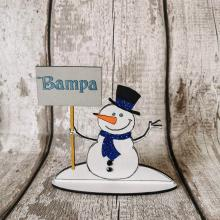 Christmas Table Place Setting personalised with name - Snowman