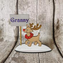 Christmas Table Place Setting personalised with name- Reindeer design