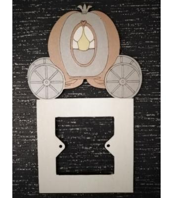 Light Switch Surround - Girls Bedroom Range - PRINCESS CARRIAGE design