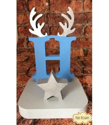 PERSONALISED Christmas Stocking Hanger/Holder - Reindeer Antler Letter -  OTHER DESIGN OPTIONS