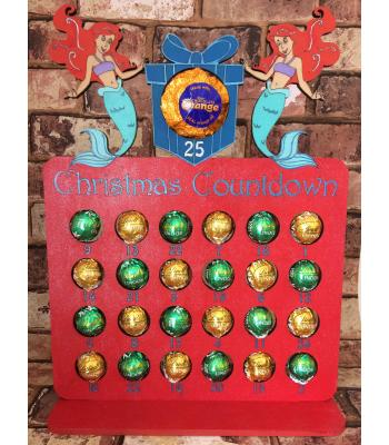 Christmas Advent Calendar - MERMAID DESIGN - FERRERO/LINDT - 26 DESIGNS