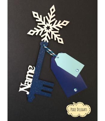 Santas Magic Key - Personalised with Name - Snowflake (6 other DESIGNS)