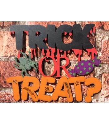 Halloween 'Trick or Treat' Decoration sign