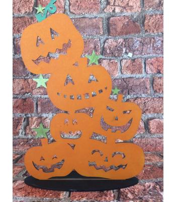 Halloween Decoration - Tumbling Pumpkins on a stand