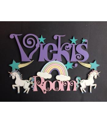 Kids Bedroom Personalised Unicorn Room Sign