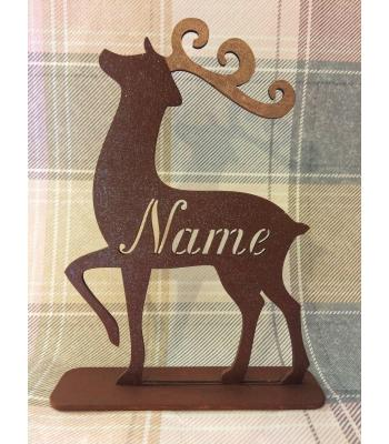 Xmas Reindeer on Stand - Personalised - Male adult, Female adult, and Child size(s) available