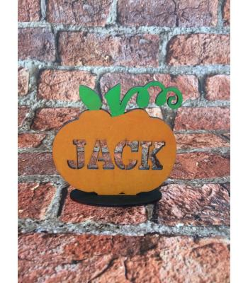 Halloween Personalised Pumpkin on a stand - SIZE OPTIONS