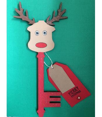 Santas Magic Key - Reindeer design (MANY MORE DESIGNS)