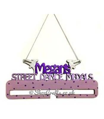 Personalised Medal Holders - Street Dance design - Other design options available here