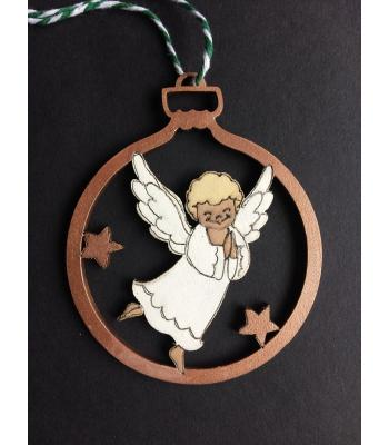 Xmas Bauble-  ANGEL design - Gift bag included