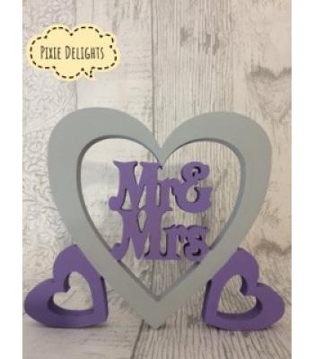 Wedding 'Mr & Mrs', 'Mr & Mr', or 'Mrs & Mrs' Freestanding  Top Table heart