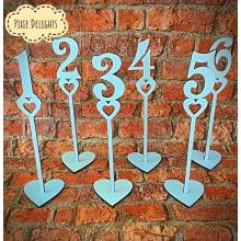 Wedding table numbers - 16 design options