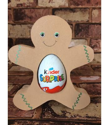 FREESTANDING Christmas GINGERBREAD confectionery holder - Kinder Egg