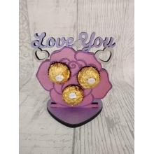 'Love You' Valentines Rose Ferrero Rocher Holder