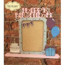 'Happy Birthday' Photo Frame on a stand