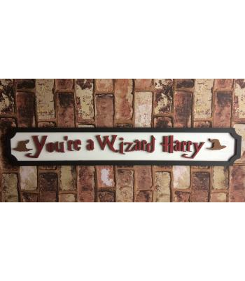 "Personalised 'You're a Wizard NAME"" Magic theme -3D street sign design"