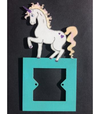 Light Switch Surround - Girls Bedroom Range - UNICORN design