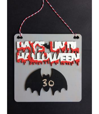 Halloween Chalkboard Countdown 'Days Until Halloween' - Bat Design - 6 DESIGNS