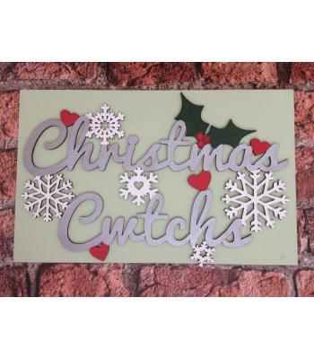 Welsh Christmas Cwtchs' Quote Sign