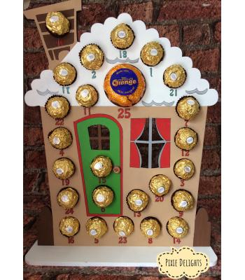 Xmas Advent Calendar - FERERRO/LINDT - Gingerbread House - OTHER DESIGNS available