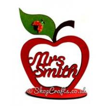Teachers Apple gift with personalised teachers name on stand