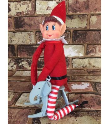 Xmas 'Elf on the shelf' prop - Rocking Elephant