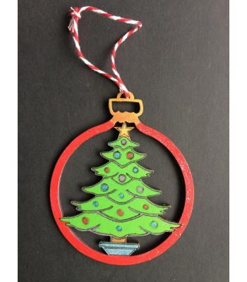 Xmas Bauble-  CHRISTMAS TREE design - Gift bag included