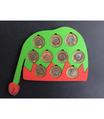 Xmas Gift - Coin Holder - ELF design - 16 designs available - holds £10