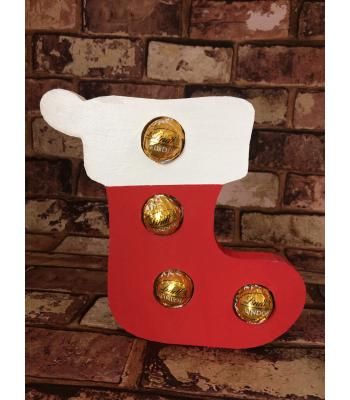 FREESTANDING Christmas STOCKING confectionery holder - Ferrero Rocher