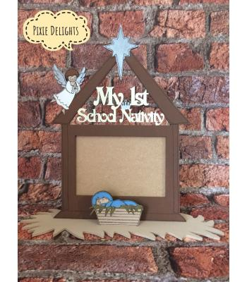 'My 1st School Nativity' Christmas school concert Photo frame on a stand