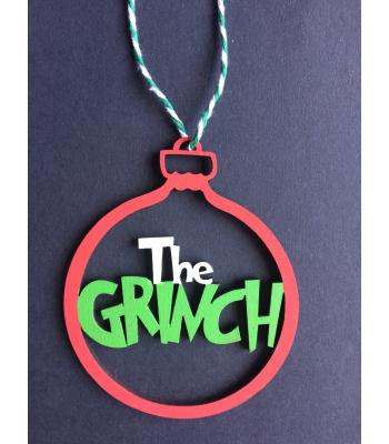 Xmas Bauble- The Grinch - Gift bag included