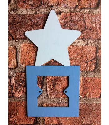 Light Switch Surround - Nursery/Simple Designs Range - STAR DESIGN