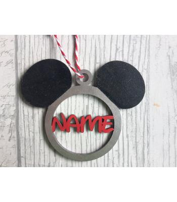 Xmas bauble - Mouse Head design - Male Mouse