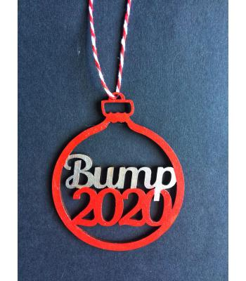 Xmas Bauble - Pregnancy - Baby Bump & PERSONALISED year - gift bag included