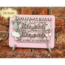 Wedding table-top sign - Heaven Bereavement