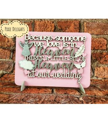Wedding table-top sign - Heaven Bereavement