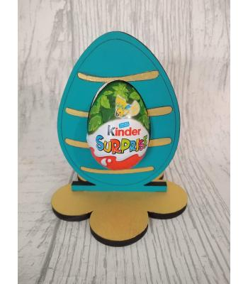 Easter - Kinder Egg confectionery holder - Stripe Egg design