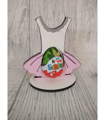 Easter - Kinder Egg confectionery holder - Ballet Tutu design